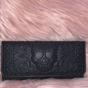 Loungefly Black Sugar Skull Embossed Wallet